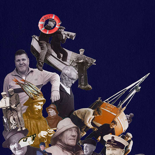Famous Fishermen Of Hastings is a Collage by Julia Andrews-Clifford