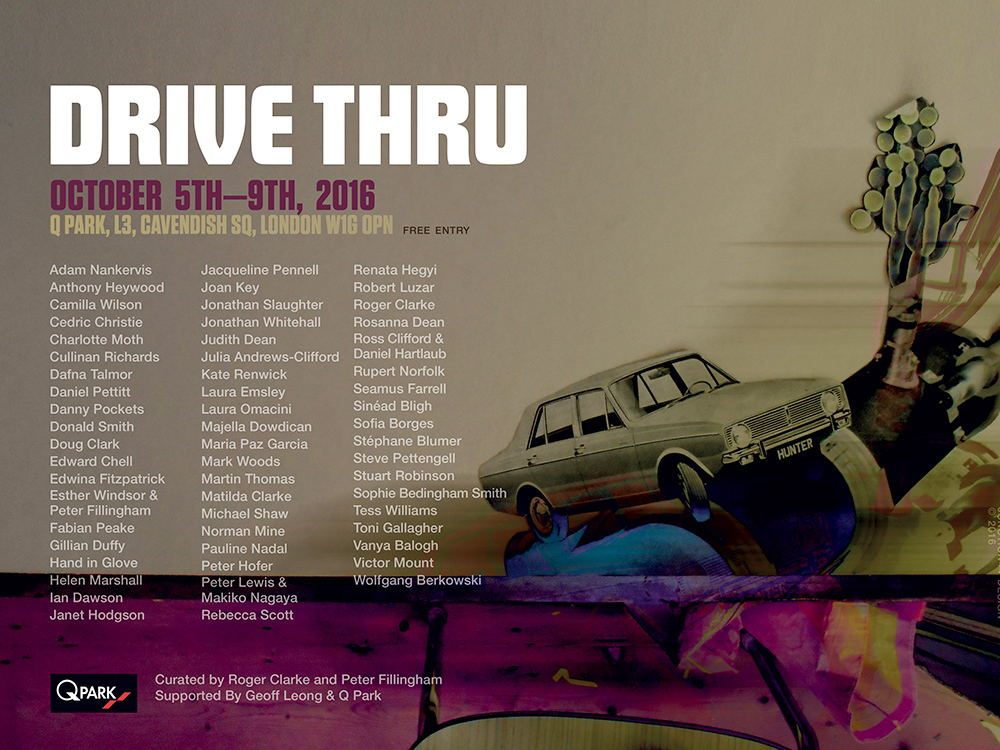 Drive Thru Poster Posters+Billboards for QPark London Art Show
