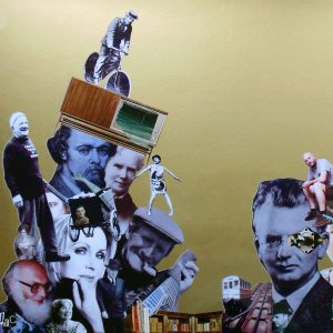 Famous Faces of Hastings is a Collage by Julia Andrews-Clifford